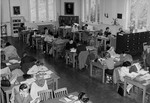 Library in College Hall, 1940