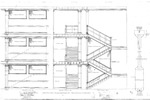 College Hall Architectural Drawing – Two Central Staircases by The New Jersey State Normal School at Montclair and Department of Charities and Correction, Architects Office .