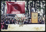 A Speaker and Faculty at Commencement, 1973 by Montclair State College