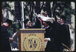 Graduate Receiving a Hood, Commencement, 1973 by Montclair State College