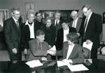 President Cole and Dr. Stuart Cook, President of UMDNJ, 1999 by Steve Hockstein