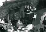President Cole Addresses the Women's Club of Upper Montclair, 1999 by Steve Hockstein