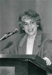 Dr. Susan A. Cole Speaking at the Women's History Month Luncheon in the Student Center, 1999 by Steve Hockstein