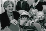 President Cole Greets Children from the Child Care Center, 1999 by Steve Hockstein