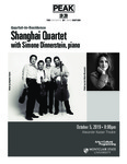 Shanghai Quartet featuring Simone Dinnerstein by Office of Arts + Cultural Programming and PEAK Performances at Montclair State University