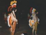 Two Lambda Chi Delta Mascots
